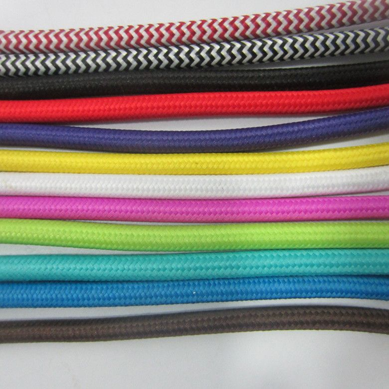 Aliexpress.com : Buy 5meter/lot rgb cable textil fabric vintage lamp ...