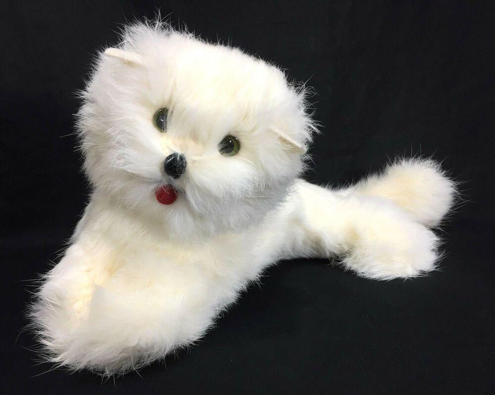 Vintage Kitty Cat Persian Kitten White Rabbit Fur 11 Long Plush Stuffed Animal Unknown Persian Kittens Stuffed Animal Cat Plush Stuffed Animals