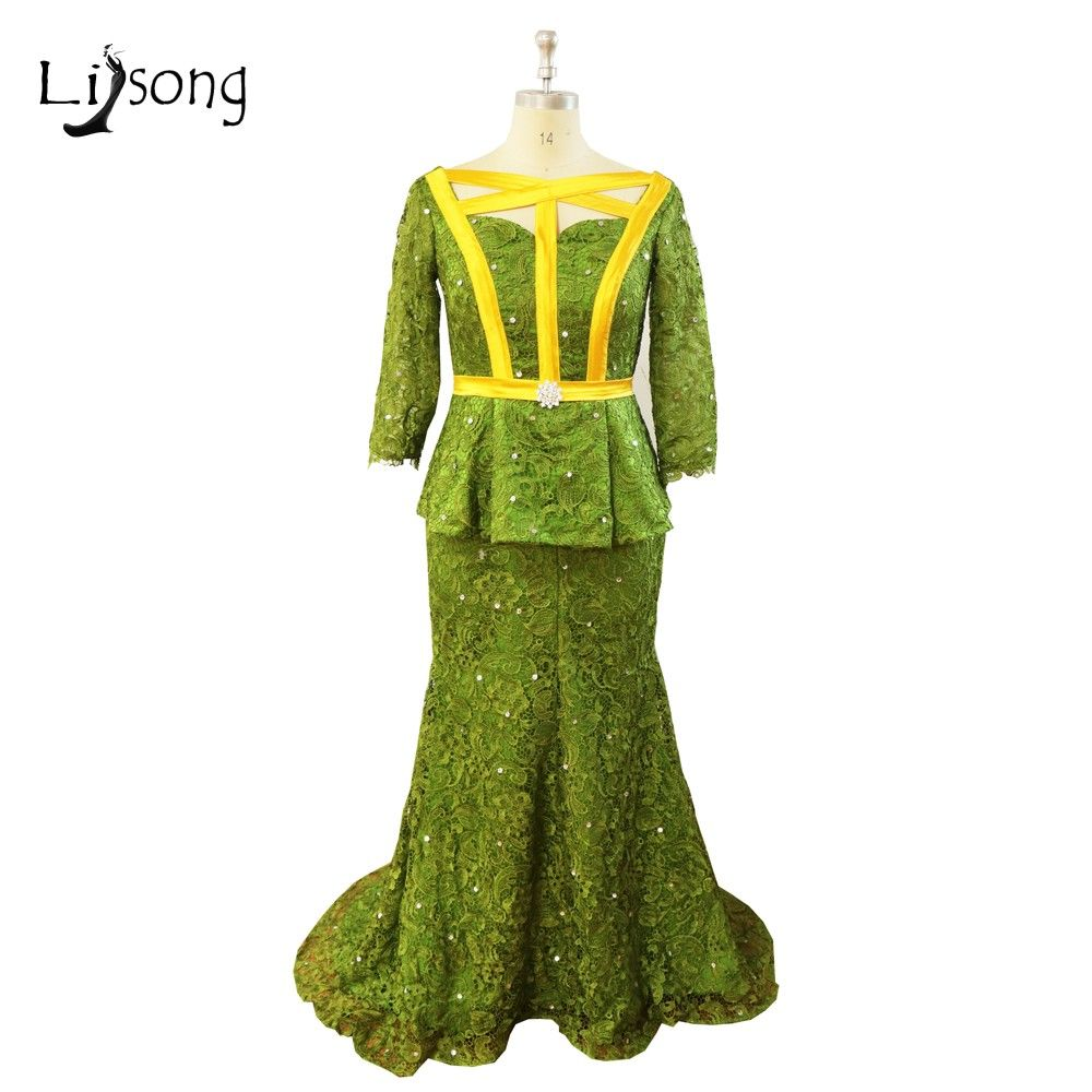 Click to buy ucuc plus size african evening dresses long three quarter