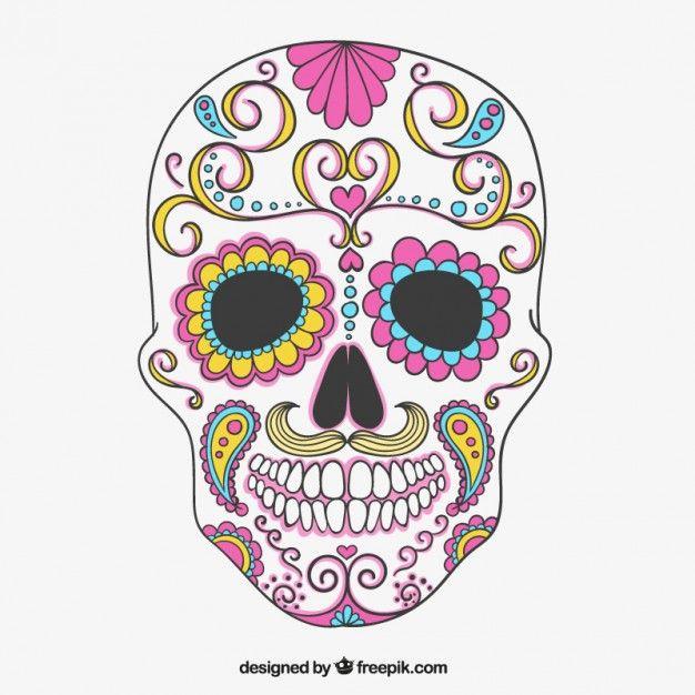 Dia De Los Muertos  Fotos y Vectores gratis  Bordado  Pinterest