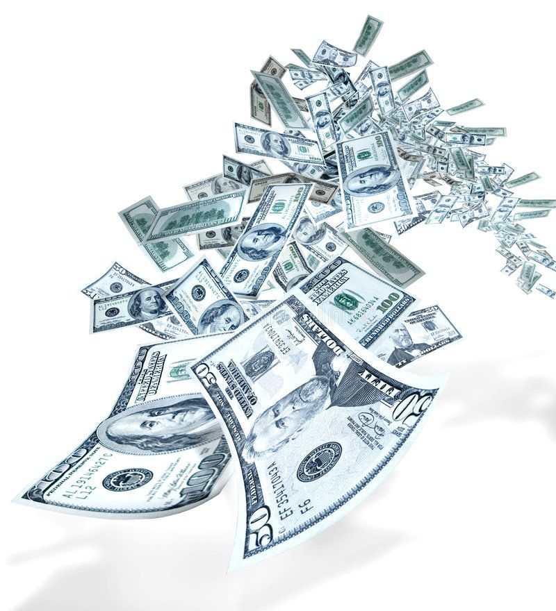 Money Flying Fifties And One Hundred Dollar Us Bills Fly Toward The Viewer Sponsored Fifties Flying Mon Stock Images Beautiful Black Girl Icon Design