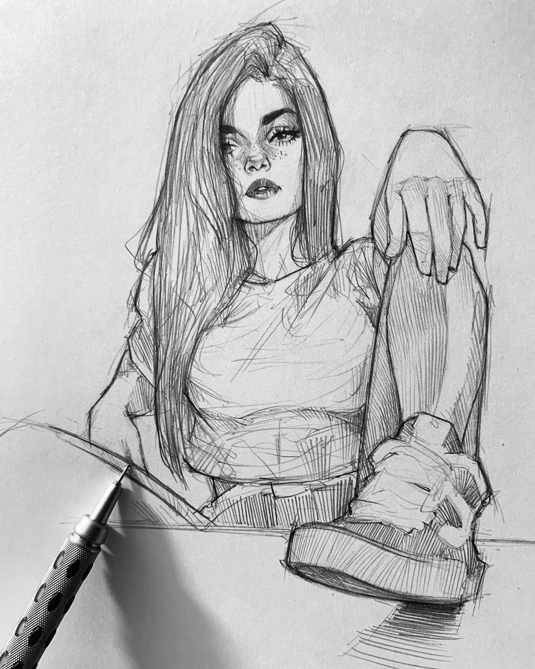 Coup De Coeur The Good Sketches Of Ephraim Unhealthy Artwork Sketchbook Co In 2020 Pencil Portrait Portrait Art Cool Art Drawings