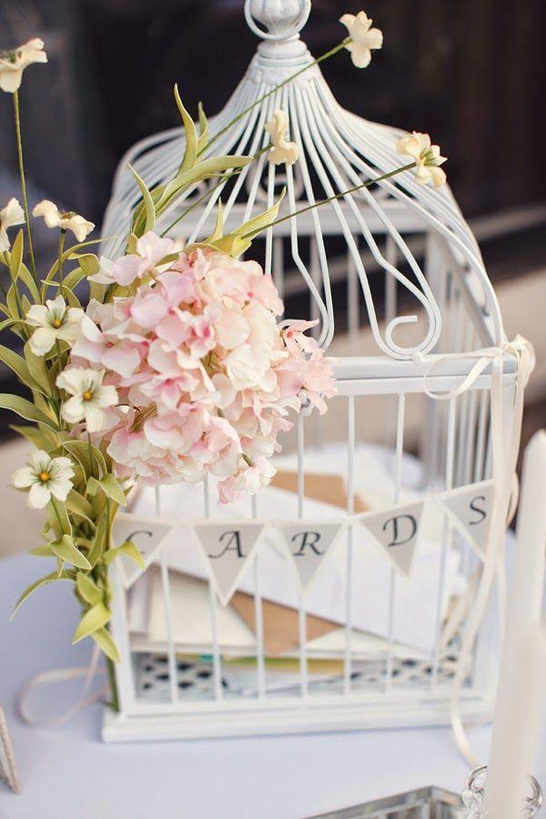 cage a oiseaux urne mariage
