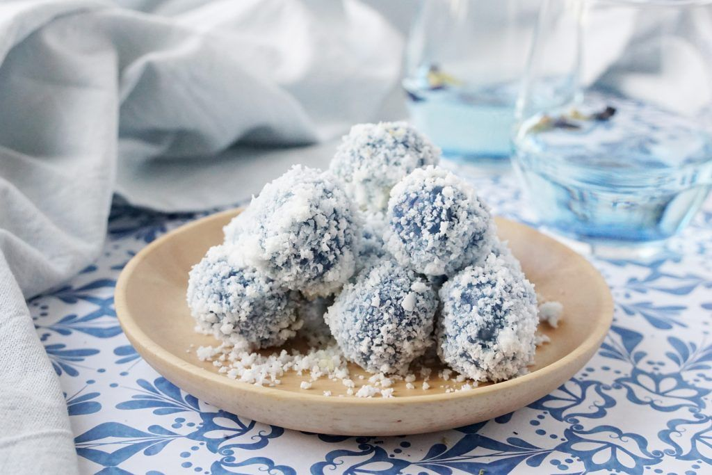 Blue Butterfly Pea Onde Onde Recipe (With images
