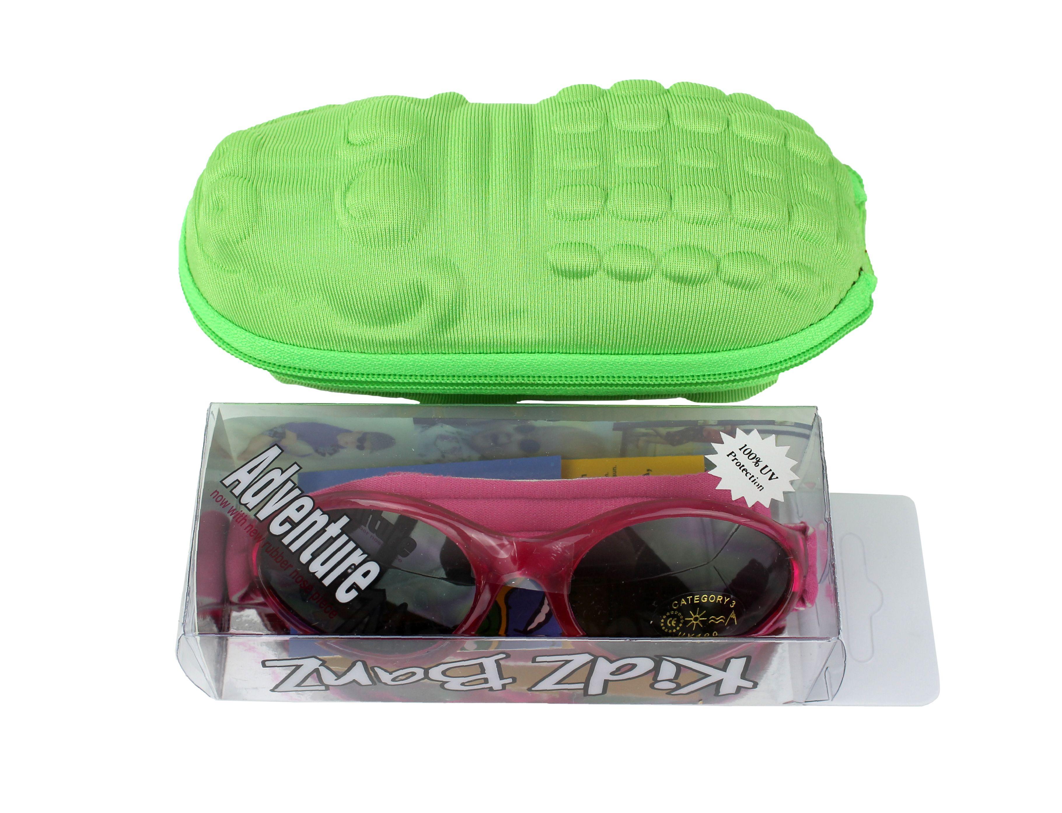 4ff5806e7bdc Gift pack  Kidz Banz Pink wraparound sunglasses 2-5 years with green  crocodile