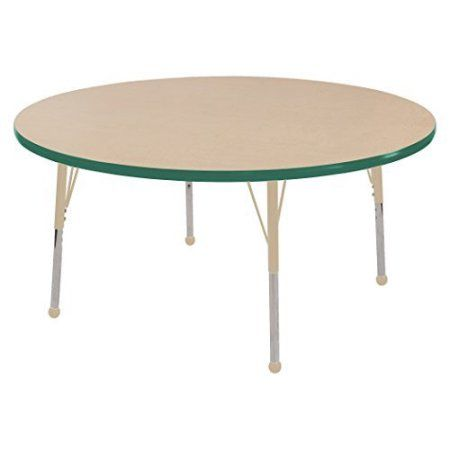 71bb8f8435e1 Used ECR4Kids 48 inch Round Thermo-Fused Adjustable Activity Table ...