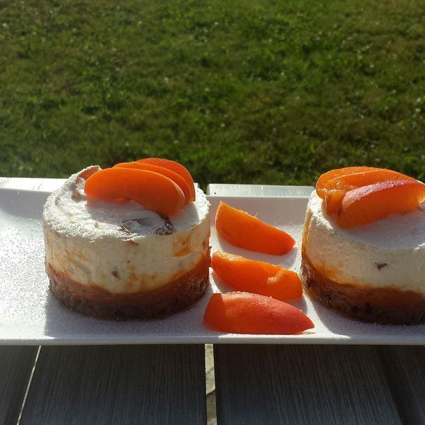 cheese cake l ger aux abricots recette ww pinterest. Black Bedroom Furniture Sets. Home Design Ideas