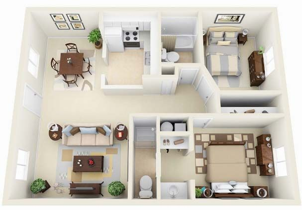 Small House Plans Under 1000 Sq Ft A Few Design Ideas 2 Bedroom Apartment Floor Plan Small House Plans Bedroom House Plans