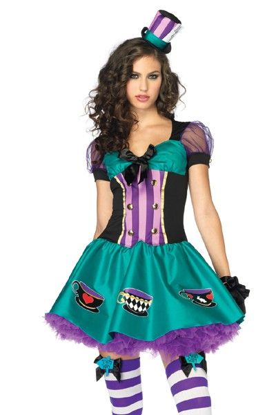 2PC. TEACUP MAD HATTER COSTUME @ Amiclubwear costume Online Store ...