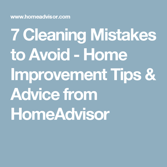 7 Design Mistakes To Avoid In Your Hall: 7 Cleaning Mistakes To Avoid