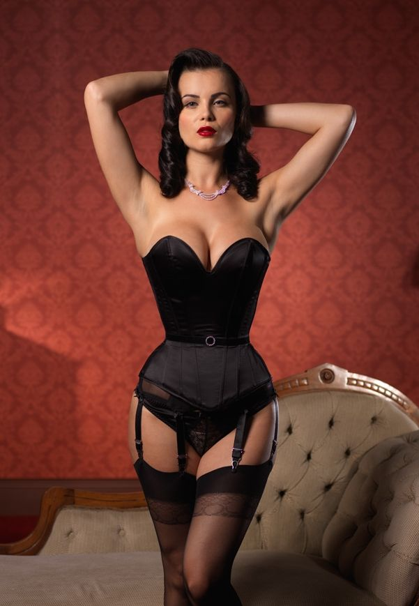 273605ce8 Ava Corsetry -  Audrey  plunge sweetheart overbust corset with diamante  waist detailing