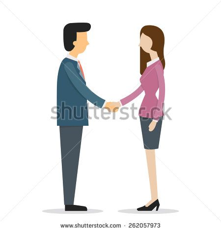 Male Female Shaking Hands Stock Photos Images Pictures Business Women Vector Illustration Character Design