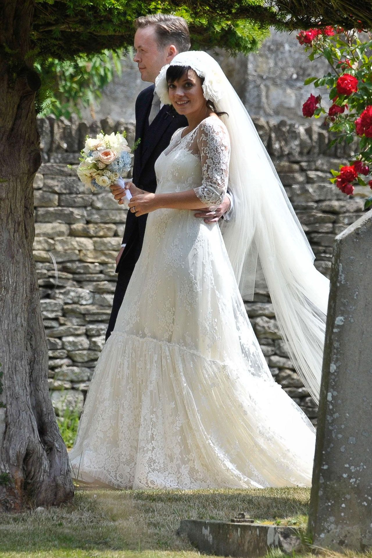 It's OK...Lily Allen has found her Chanel wedding dress