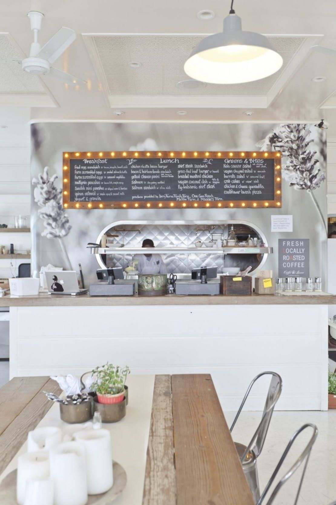 Farmhouse Coffee Shop Malibu Farm Farmhouse Modern By Alexander Design Cute Little