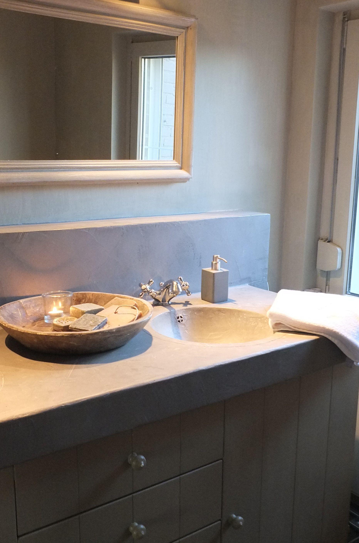 styling living badkamer beton cire en kalkverf van pure