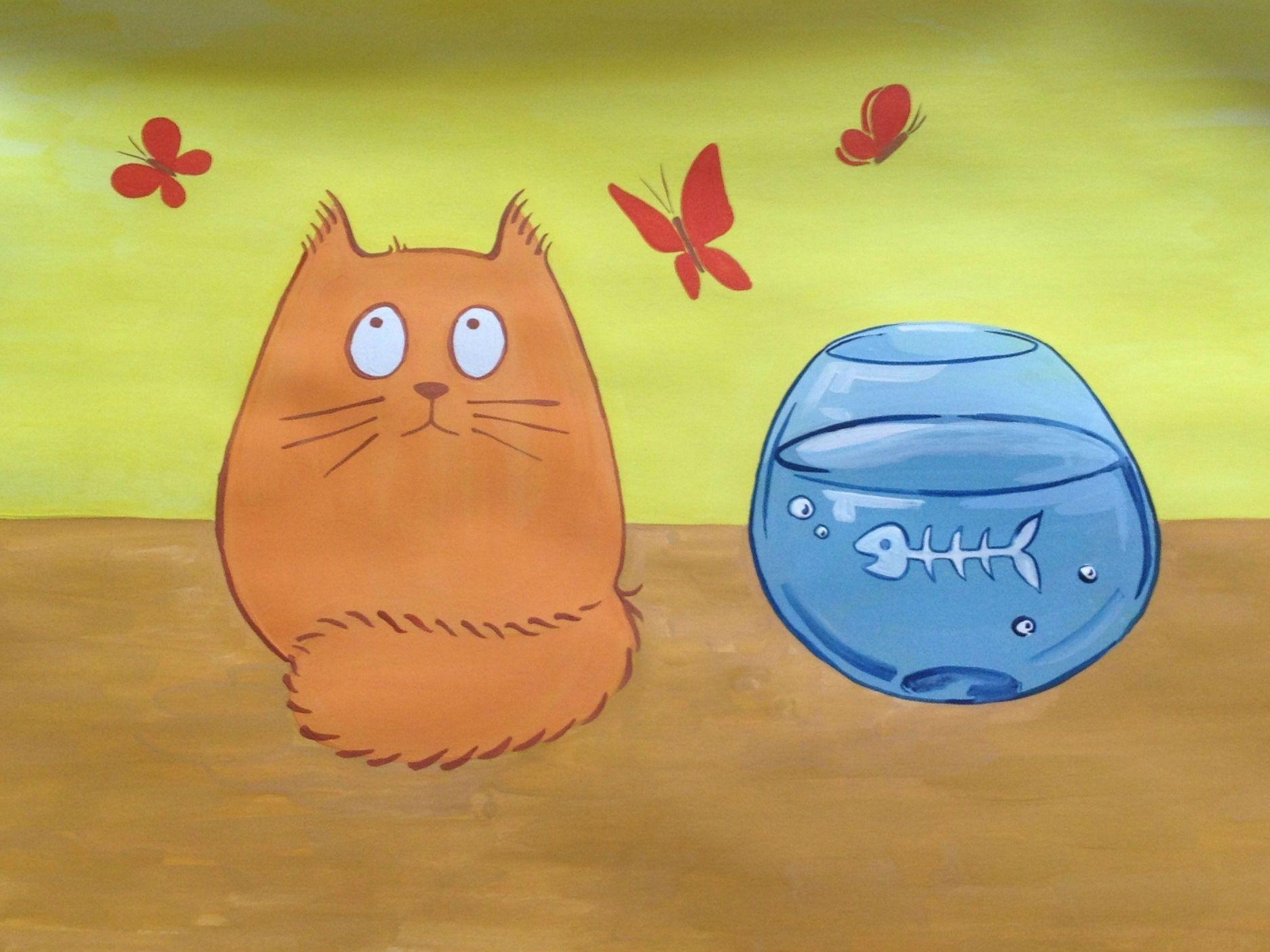 Рисуем котика. Творческий мастер-класс по рисованию для детей