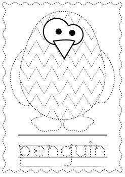 Penguin Worksheets For Kindergarten