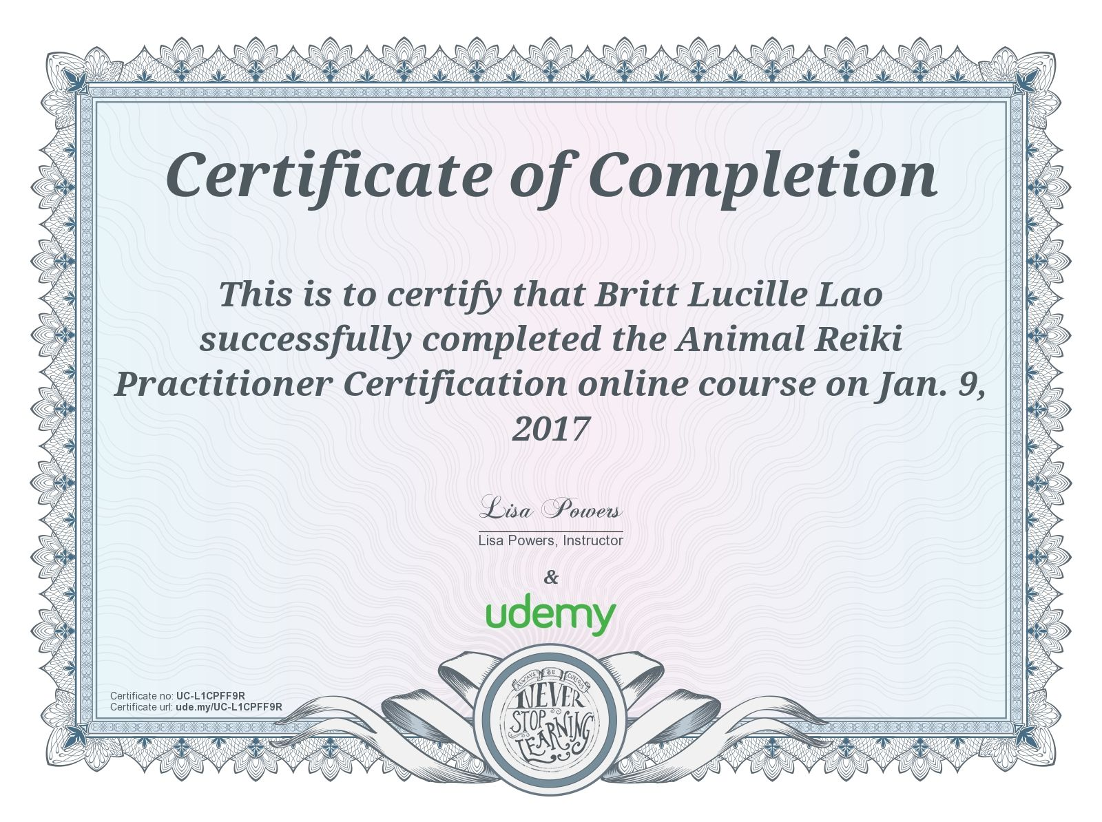 My animal reiki certificate reiki pinterest my animal reiki certificate yadclub Choice Image