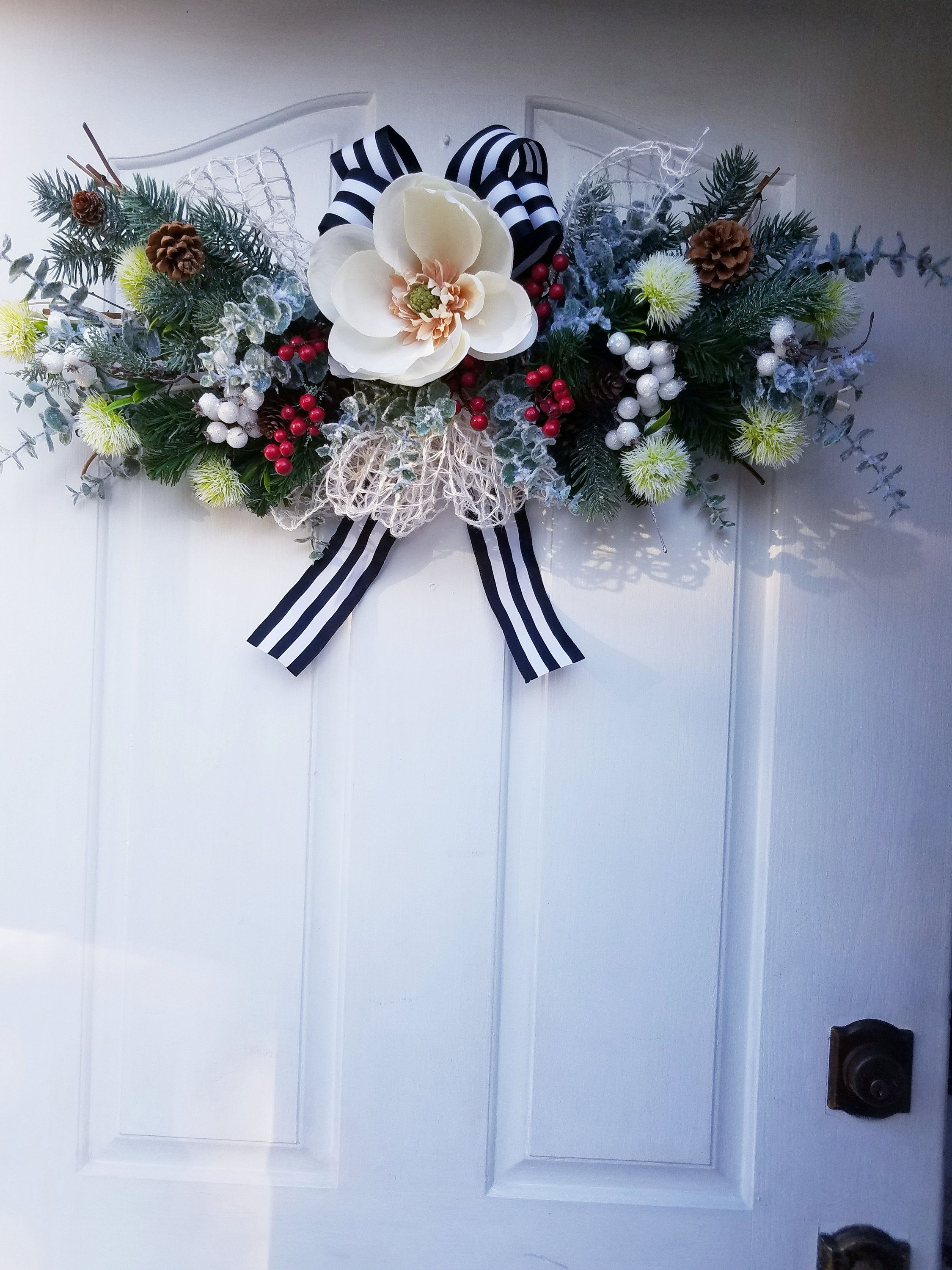Winter Swag, Floral Swag, Winter Home Decor Christmas