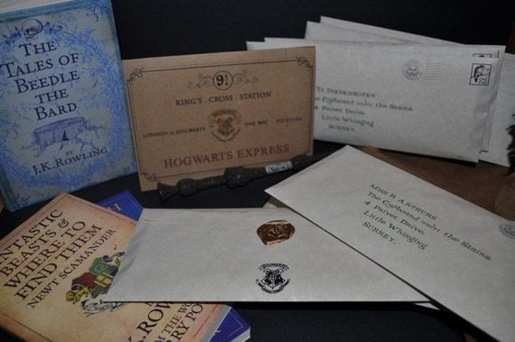 Harry potter acceptance letter & Hogwarts by CatherineJaneJoy, $18.00 plus materials maybe $25-30