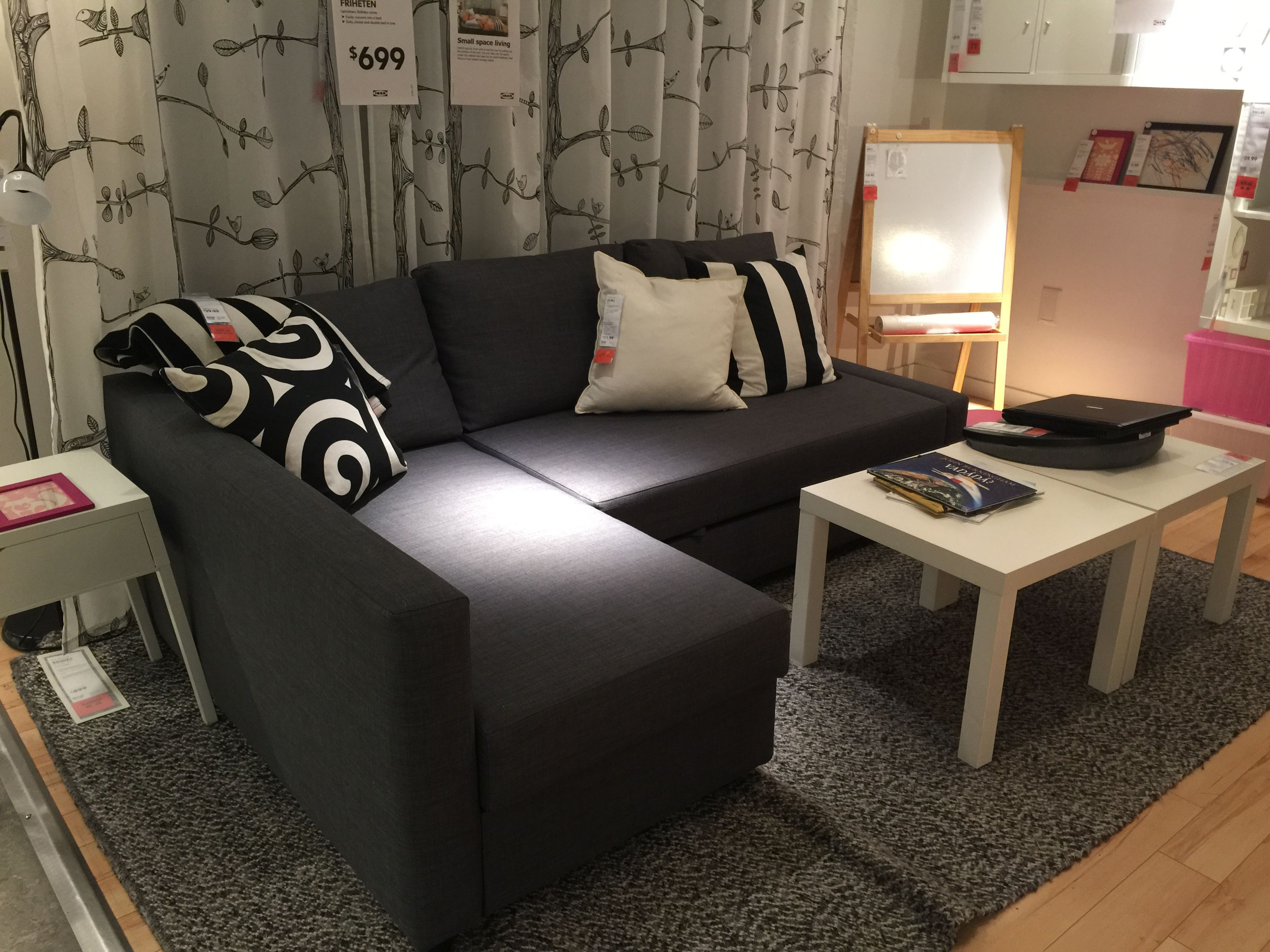 sofa bed 699 friheten dream home pinterest apartments living rooms and apartment ideas. Black Bedroom Furniture Sets. Home Design Ideas
