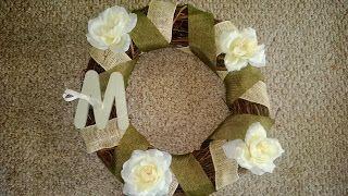 My new burlap wreath