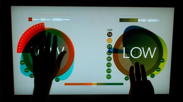 Multi Touch Light Table (for DJs) by Gerg Kaufman