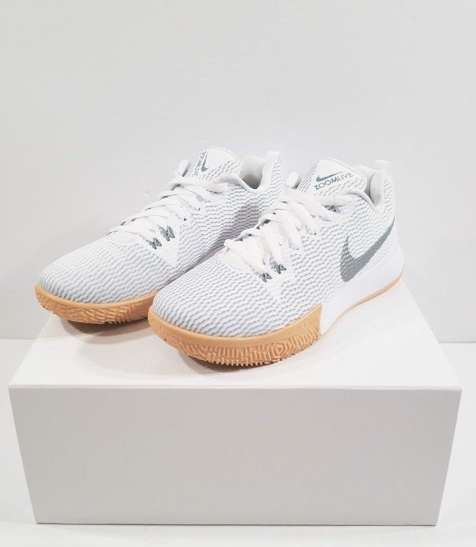 4894666a3aee Men s Nike Zoom Live II EP Size 8 White Basketball Shoe BRAND NEW AH7567  100