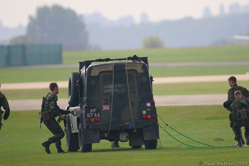 Royal Marines Land Rover Defender XD 90 Tdi Post Helicopter Drop off