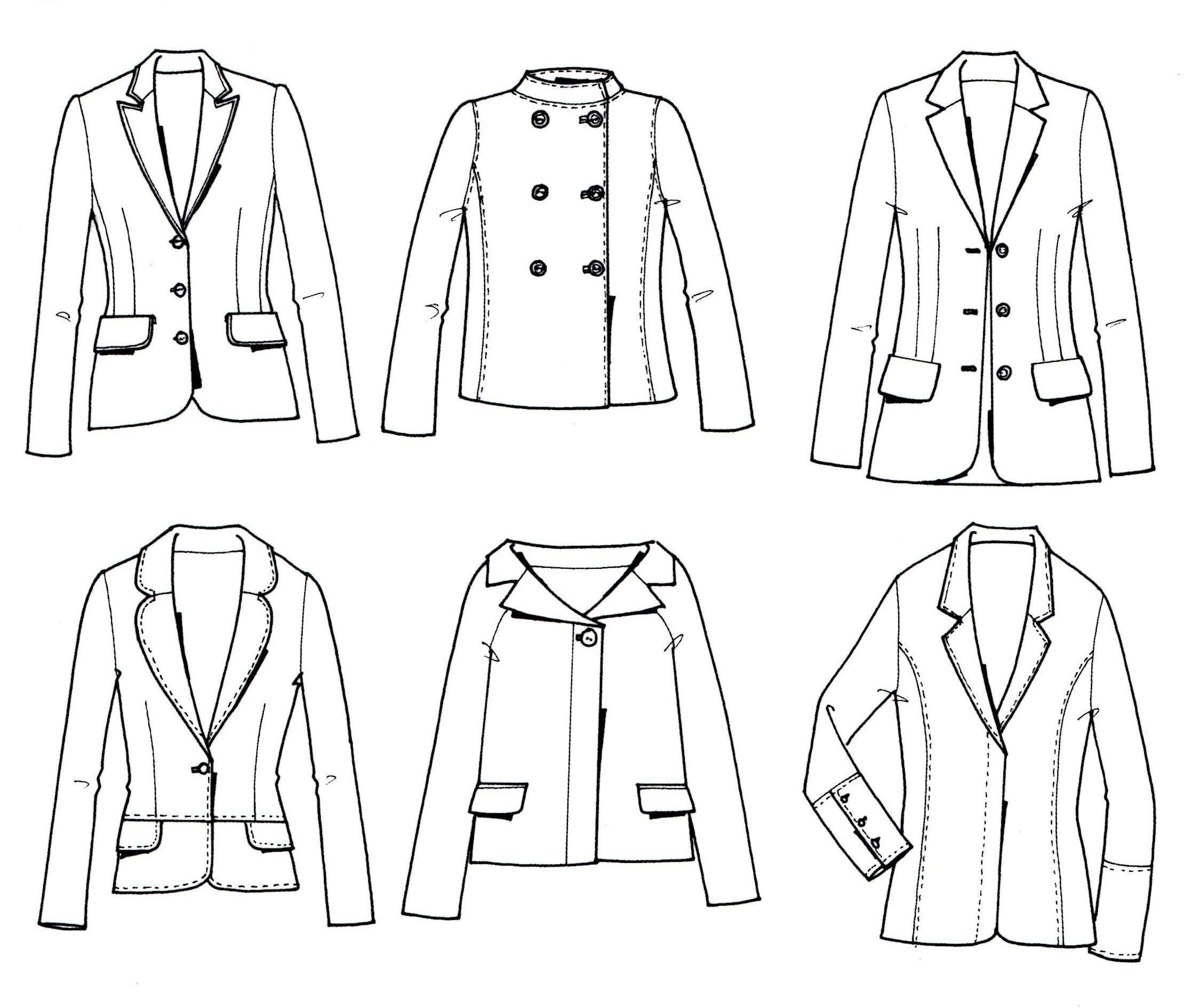 Line Art Coreldraw : Women s jacket neu pinterest technische zeichnung
