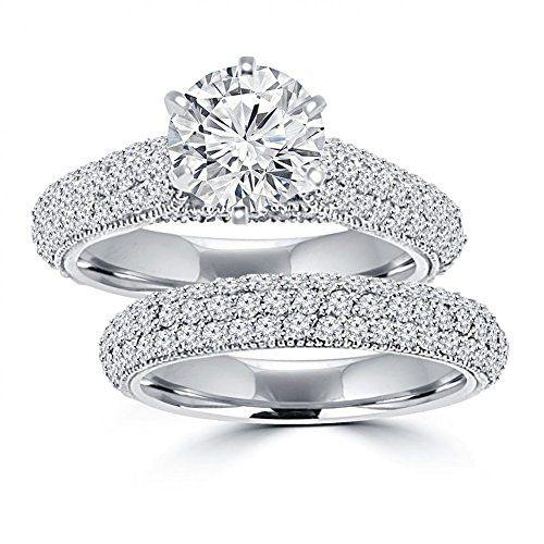 3.25 ct Ladies Round Cut Diamond Engagement Ring Set in 14 kt White Gold In Size 13 Madina Jewelry http://www.amazon.com/dp/B00PDZEBPM/ref=cm_sw_r_pi_dp_igSVub0YDBY7K