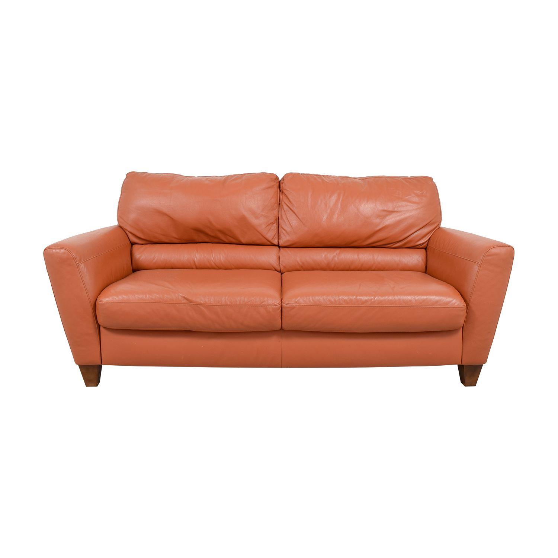 Orange Leather Sofa And Loveseat In 2020 Leather Sofa And Loveseat Orange Leather Sofas Leather Sleeper Sofa