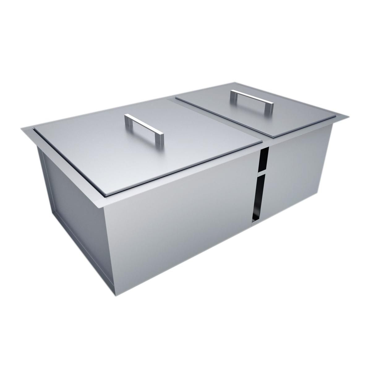 Sunstone Dual Mount 34 Inch Outdoor Rated Double Basin Sink With Covers B Sk34 Double Basin Sink Basin Sink Double Basin