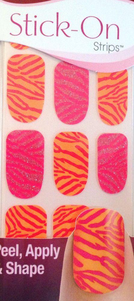 Kiss Nails Stick- On Nail Strips Nail Appliques # 58413 Glam Squad ...