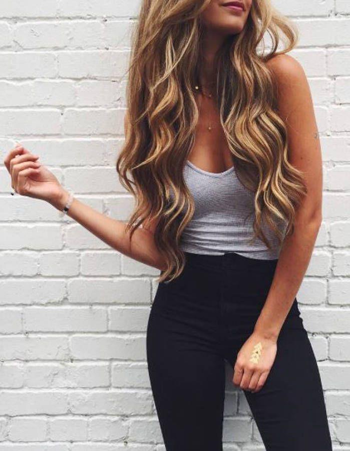 Cheveux longs brushing bouclé en 2019 Idées de mode