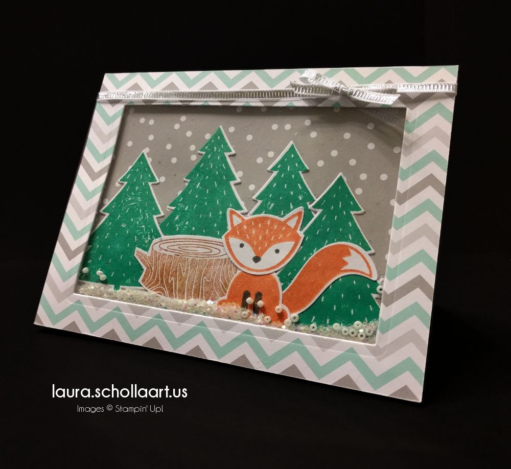 Stampin' Up! Foxy Friends Snowy Shaker Card