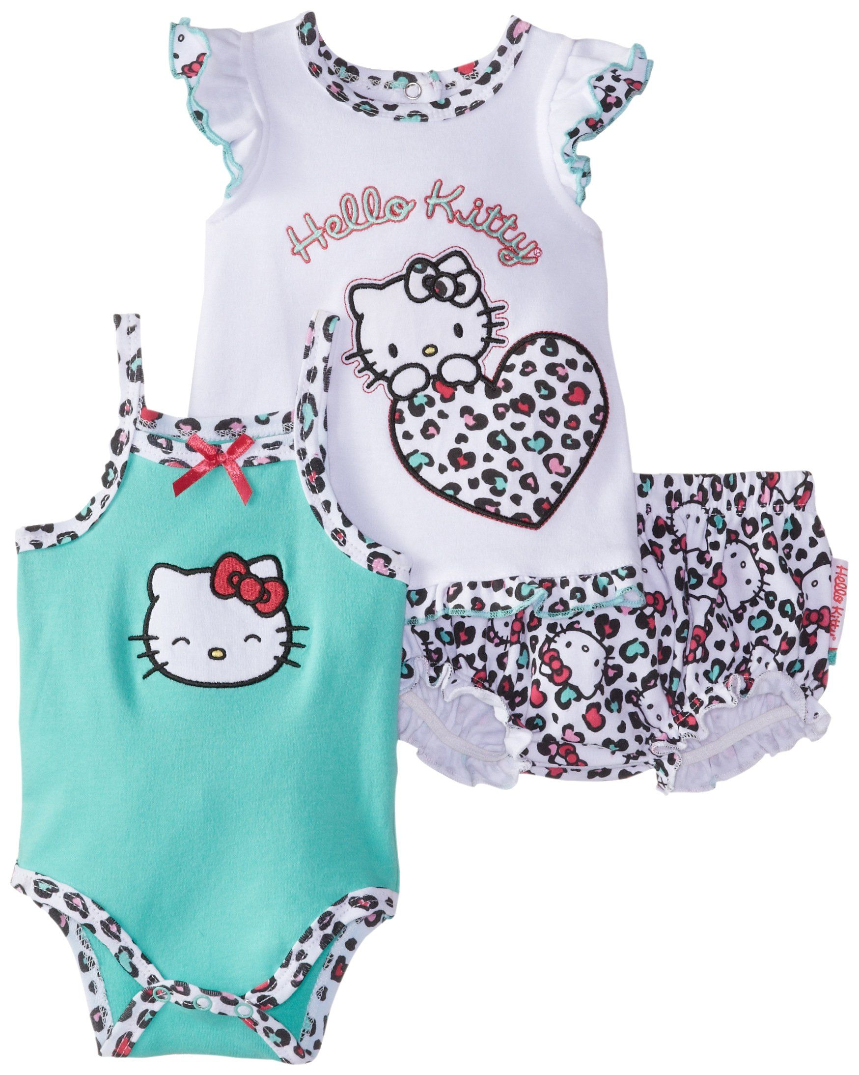 Amazon Hello Kitty Baby Girls Newborn Leopard Print Diaper Set