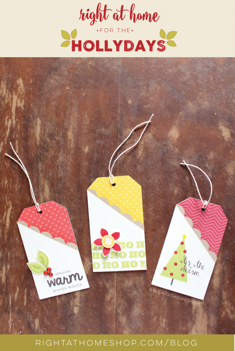 DIY Gift Card Tags Using the Silhouette // Right at Home for the Hollydays - Day #3