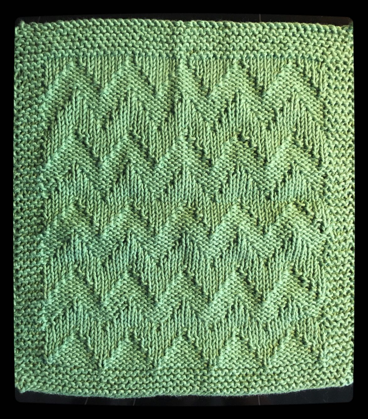 Dishcloth - karklud med zig-zag mønster i økologisk bomuld.