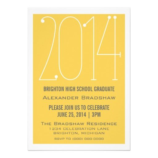 Yellow Trendy 2014 Graduation Invitation We have the best promotion for you and if you are interested in the related item or need more information reviews from the x customer who are own of them before please follow the link to see fully reviewsThis Deals          	Yellow Trendy 2014 ...