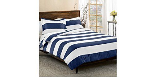 Blue Striped Bedding List Discover The Best Blue Striped Bedding For Nautical And Beach Homes We Love Blue Th Bed Comforter Sets Striped Bedding Blue Bedding