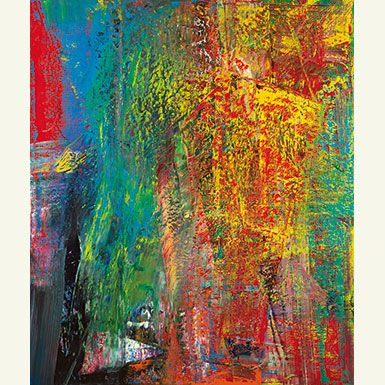 gerhard richter a b courbet 1986 sotheby s nov 13 painting art abstract acrylbilder grün abstrakt bunte gemälde
