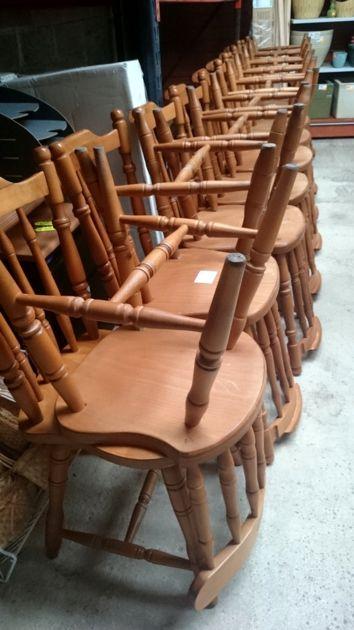 Chaises Assise Bois Ancienne A Barreau Vintage