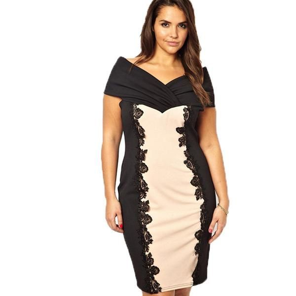 Large Size Ladies Bodycon Vestidos Women 6XL Summer Style Bandage Dress5XL  Slim Sexy Dresses 4XL Female Plus Size Audrey Hepburn 3b582520014f