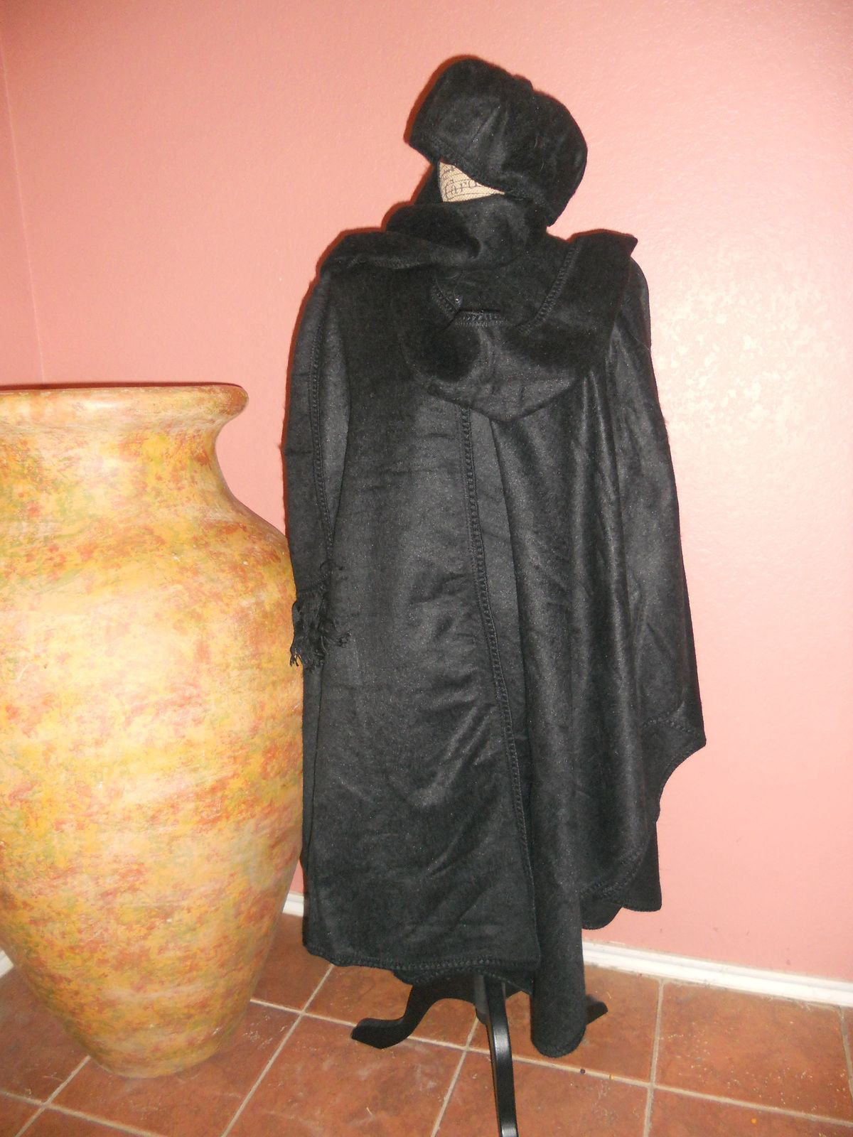 Peruvian 100 % Alpaca Collection Long Black Coat/cape $199.00 @Aspenandes Handcrafts Handcrafts