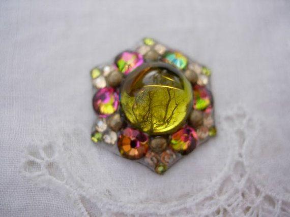 Green Chameleon Bindi  swarovski belly dance crystal by KuhlJewels, $24.00