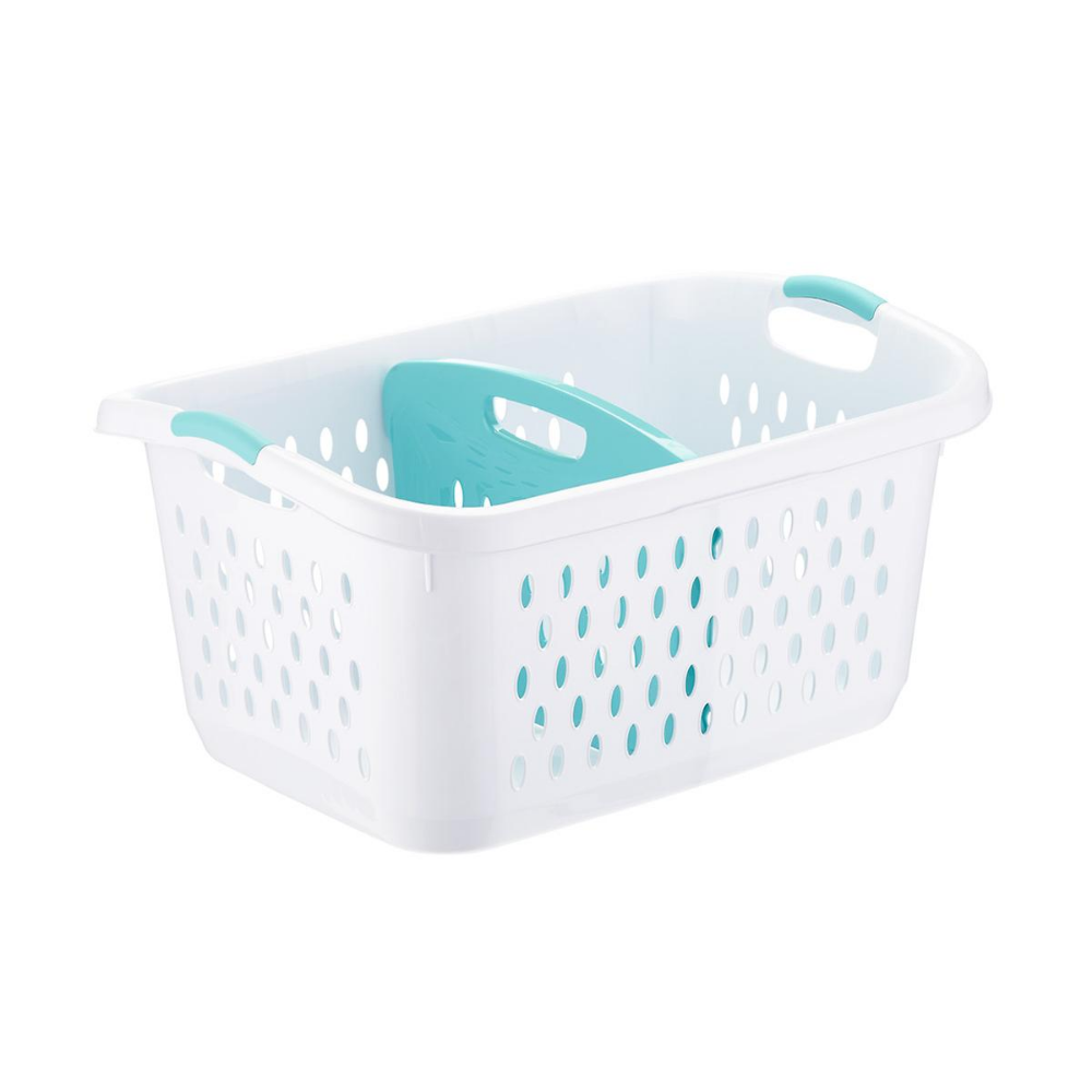 Sterilite Divided Laundry Basket The Container Store Divided Laundry Basket