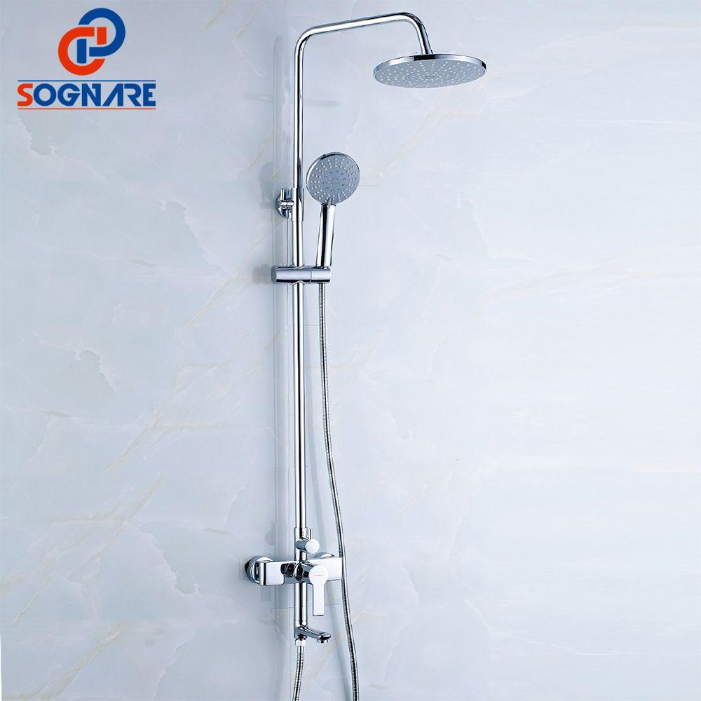 SOGNARE Bathroom Fixtures Rain Shower Faucet Set Bathtub Faucet ...
