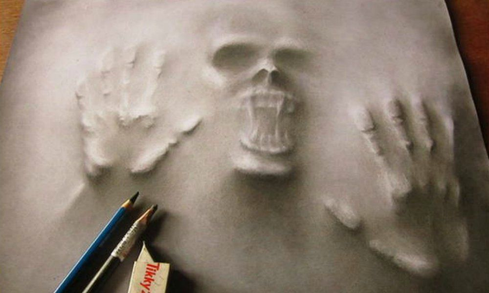 Artista recrea sus mayores temores en increbles dibujos en 3D