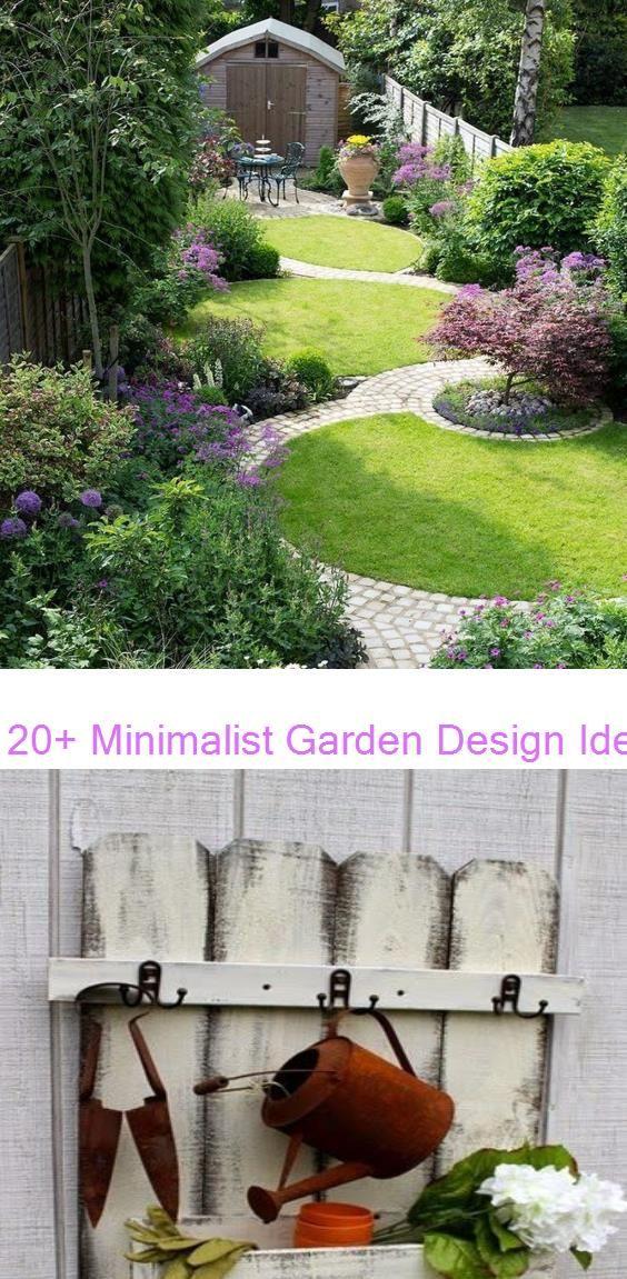 20+ Minimalist Garden Design Ideas For Small Garden #gardenlandscaping Picket Fence Organizers